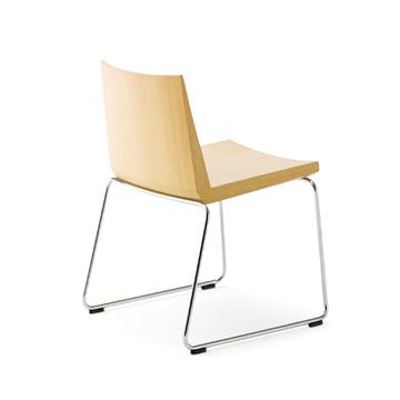 Bureau ビューロー チェア スタッキング 一人掛け 木製オフィス家具 シンプル しっかり