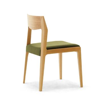 Acier ,アシエ ,チェア ,一人掛け ,カフェ ,レストラン, 木製,体に馴染む,モダン,あたたかみのある