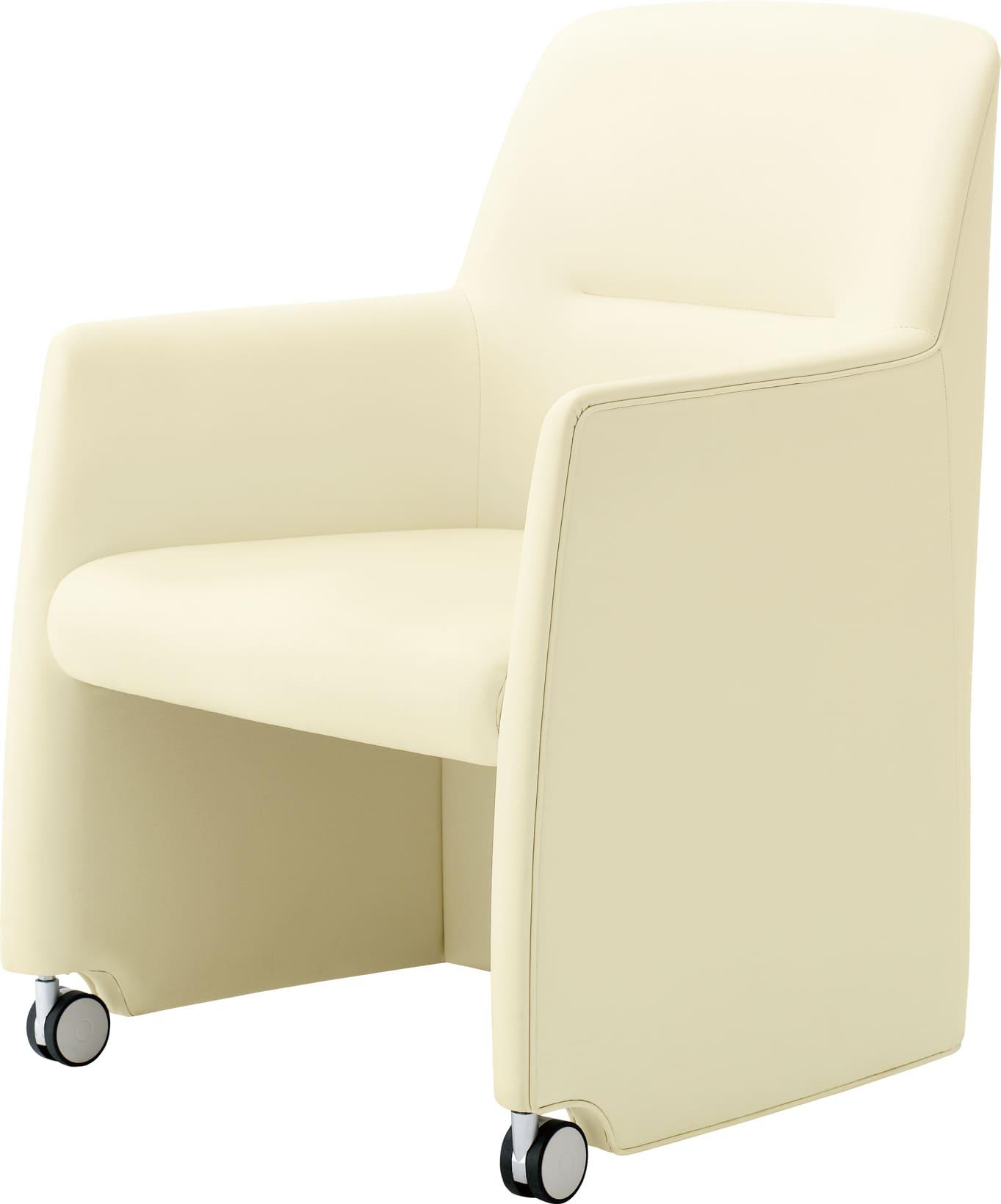 カシス Cassis 一人掛け 一人がけ 1人掛け 1人がけ 1人掛け 1人がけ アームあり キャスターあり チェア キャスターあり 会議室 白 黒 家具 LC8