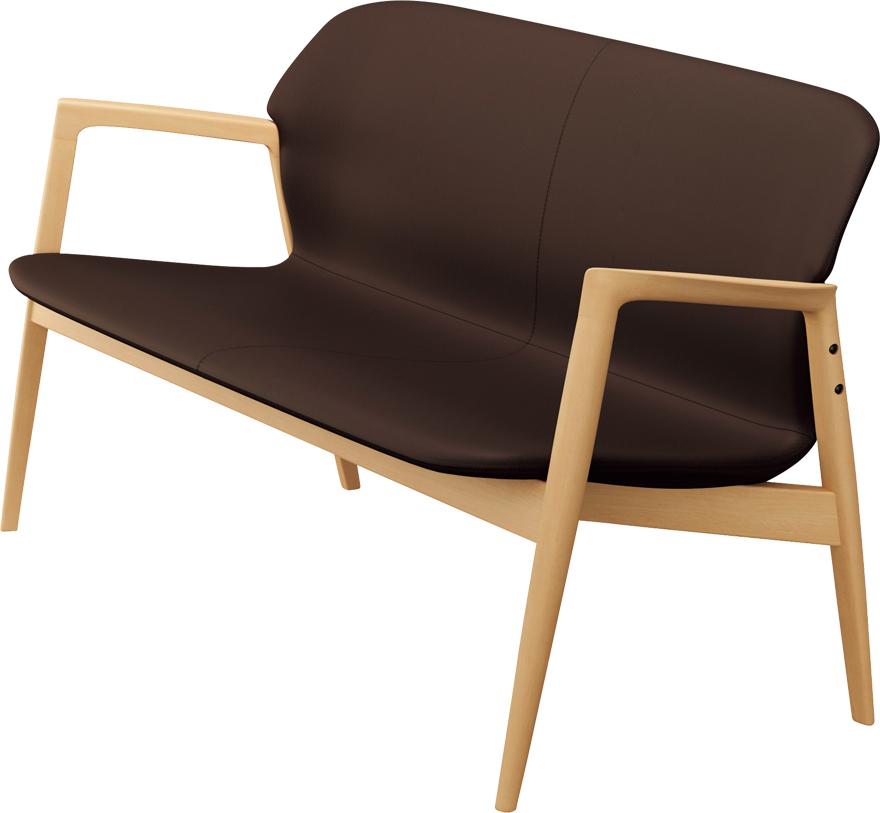 サンズ Sans 二人掛け 二人がけ 2人掛け 2人がけ 2人掛け 2人がけ アームあり チェア 滑らかな 天然木 良質な LG1 カフェ向き 業務用家具