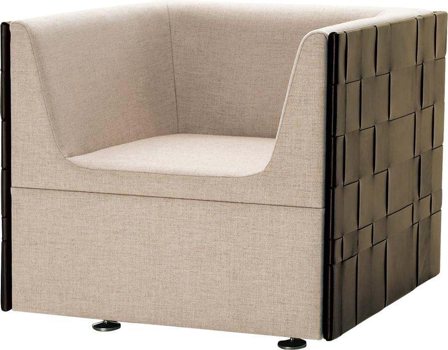 Contrast コントラスト ソファ アームあり 一人掛け 四角い ロビー 客室