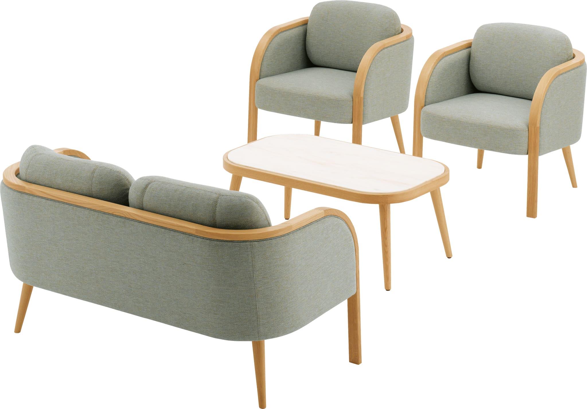 アジオ Agio  ローテーブル アームなし クッション付き 丸い形状 かわいい TK1