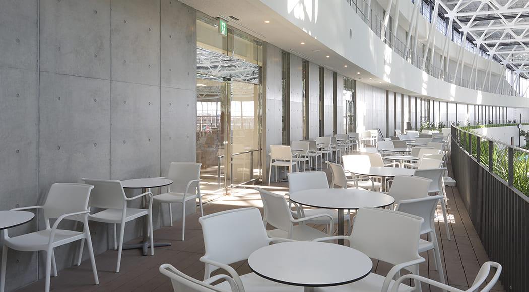 Ara チェア アームあり スタッキング 屋外用 テラス デッキ プールサイド 業務用家具