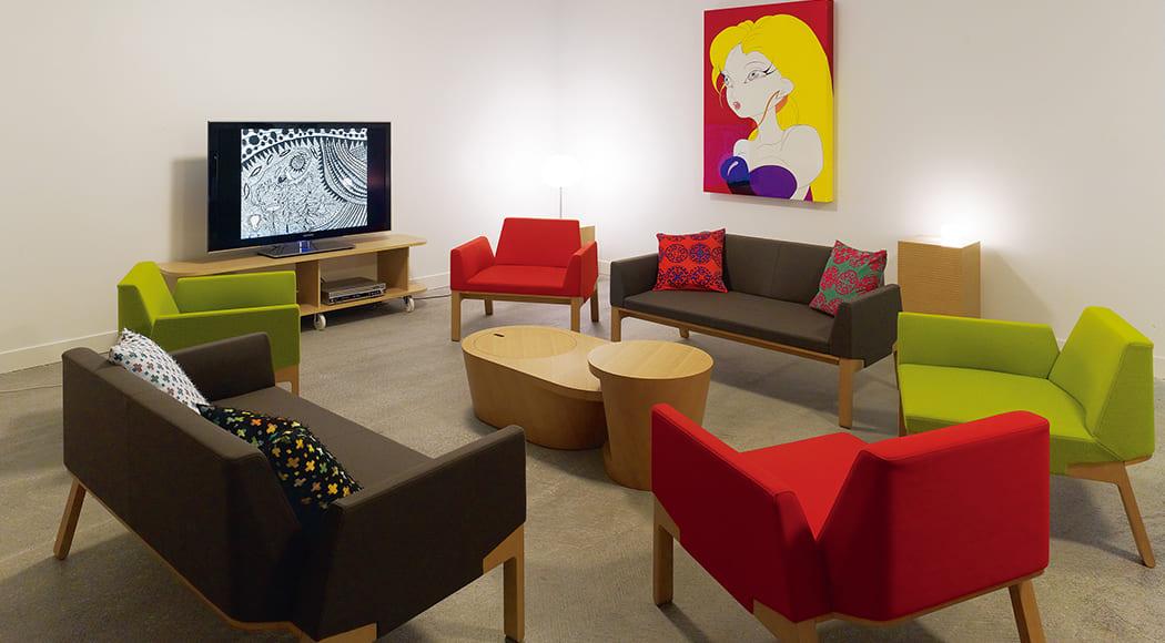 Bureau ソファ サイドテーブル 二人掛け アームあり ギャラリー 業務用家具