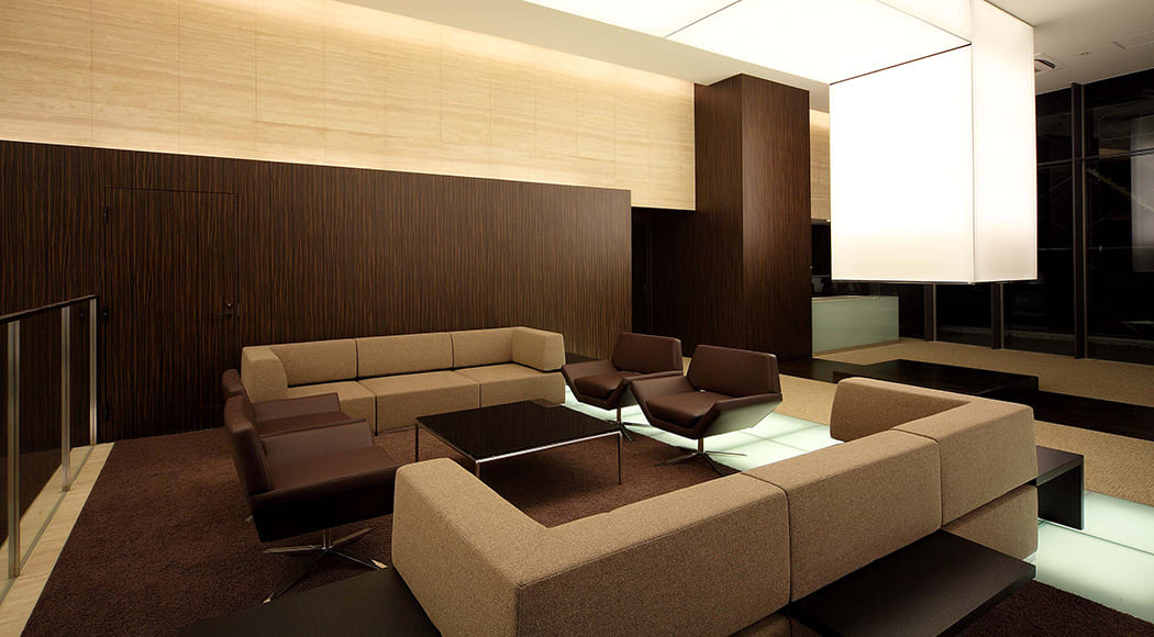 Intersect 900 ソファ アームあり ロビー マンション 待合スペース 業務用家具