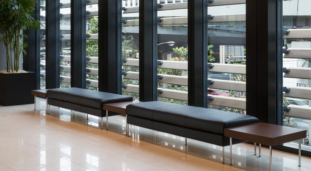 Levi ベンチ 二人掛け ラウンジ 待合スペース ロビー エントランス オフィス 業務用家具